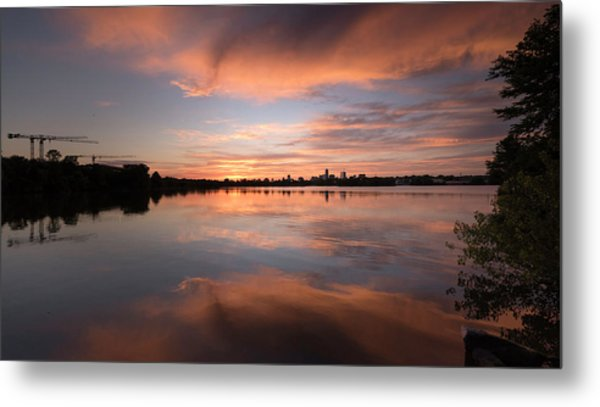 Sunset On The Lake Metal Print
