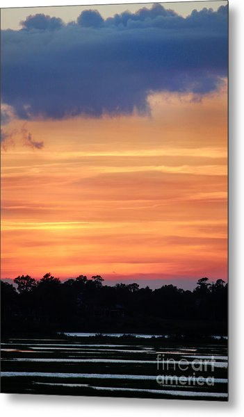 Sunset On The Marsh Metal Print
