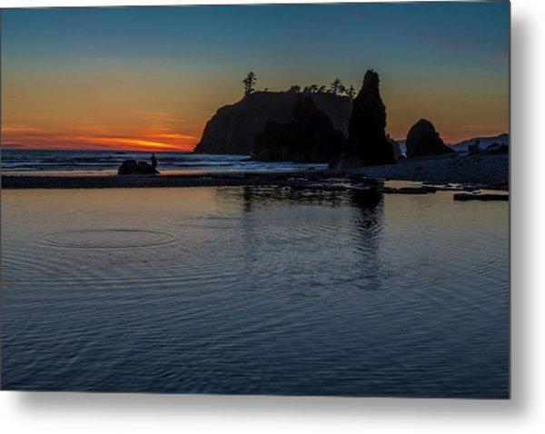 Sunset On The Oregon Coast Metal Print