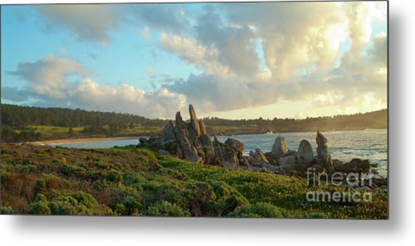 Sunset On The Pacific Ocean  Metal Print