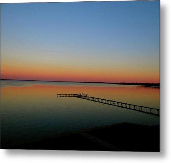 Sunset On The Pier Metal Print