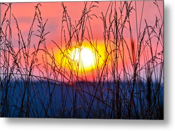 Sunset On The Prairie  Metal Print