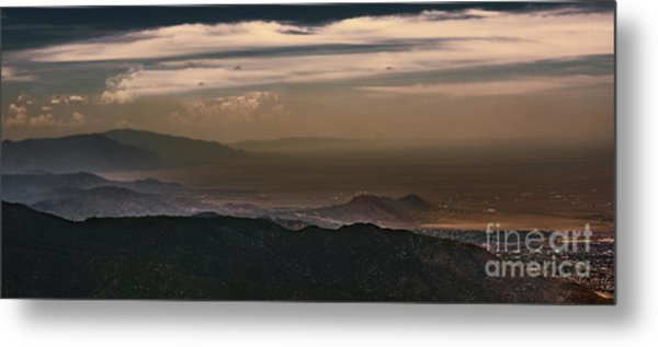 Sunset On The Sandias Metal Print