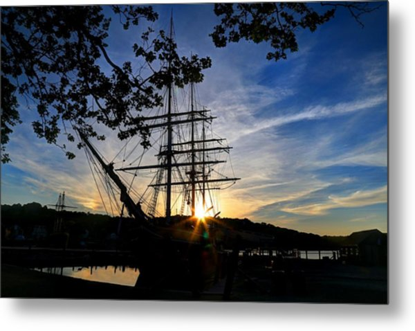 Sunset On The Whalers Metal Print