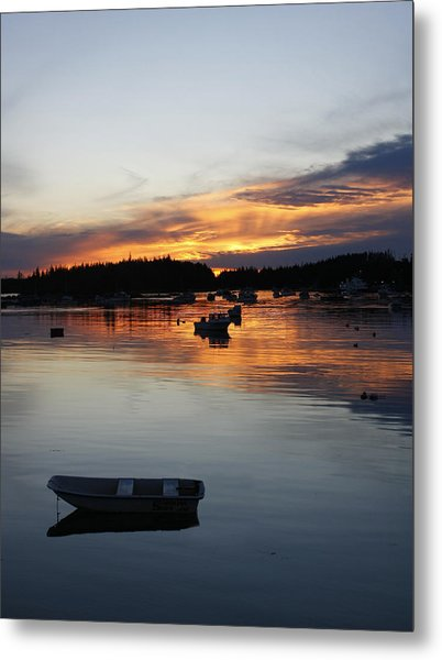Sunset On Vinalhaven Maine Metal Print