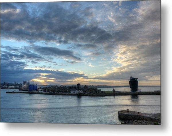 Sunset Over Aberdeen Metal Print