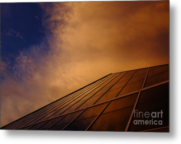 Sunset Over Bass Pro Shop In Memphis Tennessee Metal Print
