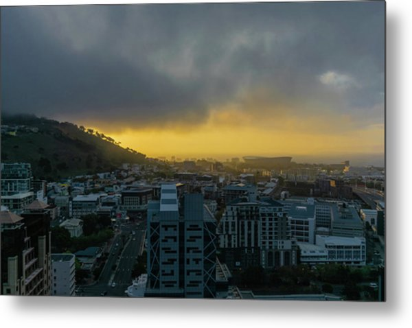 Sunset Over Cape Town Metal Print