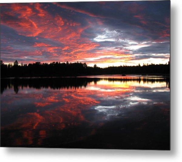 Sunset Over Caswell Lake Metal Print