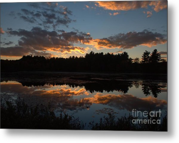 Sunset Over Cranberry Bogs Metal Print