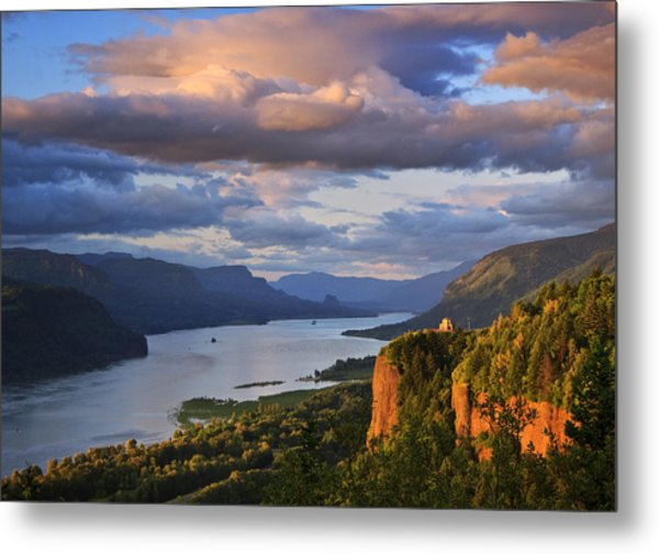 Sunset Over Crown Point Metal Print