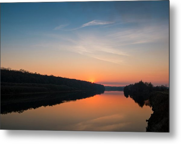 Sunset Over Desna River. Horytsya, 2014. Metal Print