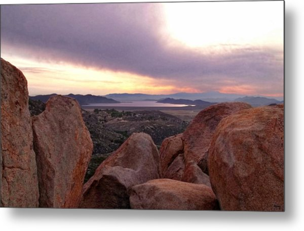 Sunset Over Diamond Valley Lake Metal Print