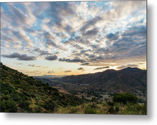 Sunset Over El Monte Valley Metal Print