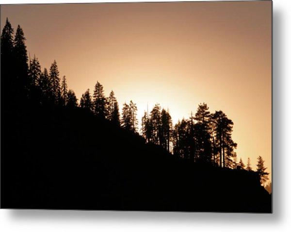 Sunset Over Glacier Point Metal Print