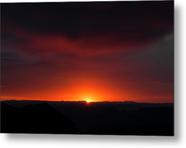Sunset Over Grand Canyon Metal Print