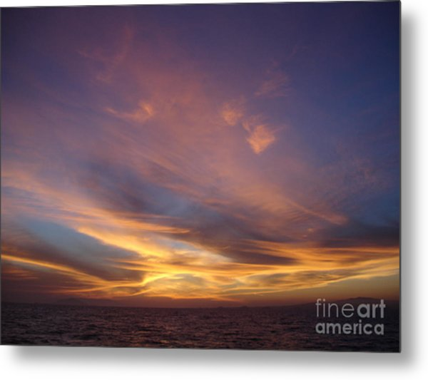 Sunset Over Island Metal Print by Chad Natti