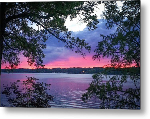 Sunset Over Lake Cherokee Metal Print
