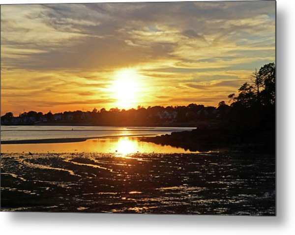 Sunset Over Lynch Park Beverly Ma Metal Print