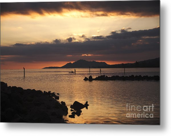 Sunset Over Maunalua Bay Metal Print