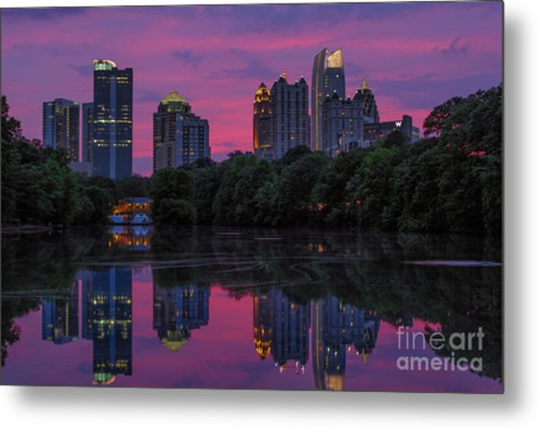 Sunset Over Midtown Metal Print