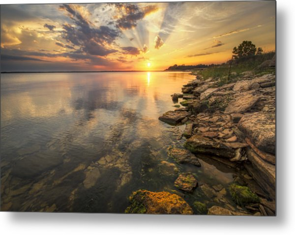 Sunset Over Milford Lake Metal Print