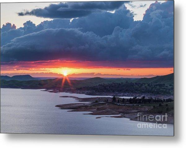 Sunset Over Millerton Lake  Metal Print