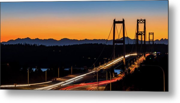 Sunset Over Narrrows Bridge Panorama Metal Print