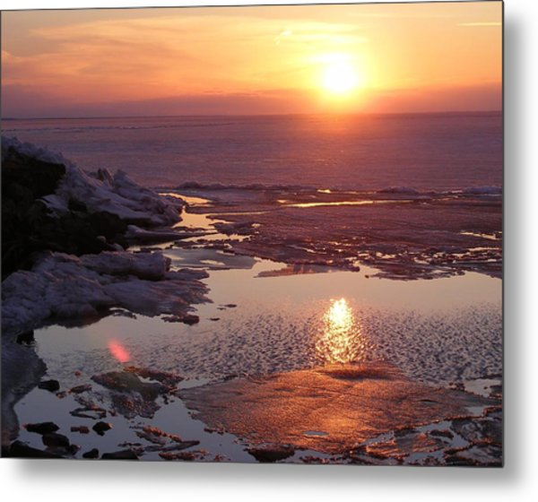 Sunset Over Oneida Lake - Horizontal Metal Print
