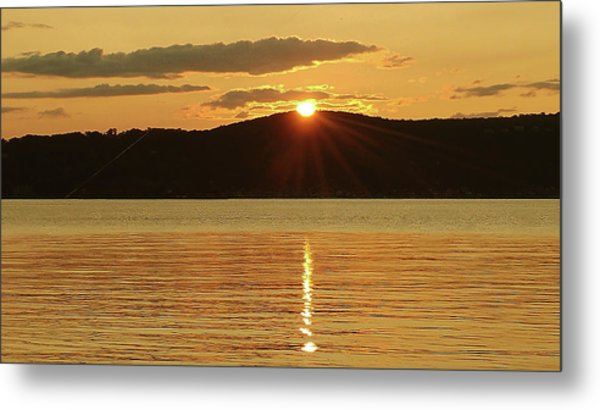 Sunset Over Piermont Metal Print