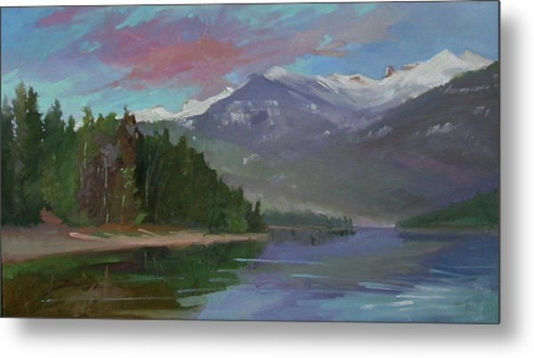 Sunset Over Priest Lake, Id Metal Print
