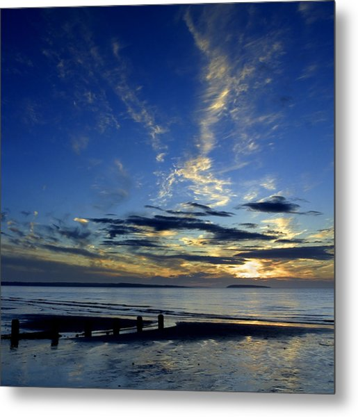 Sunset Over Puffin Island Metal Print
