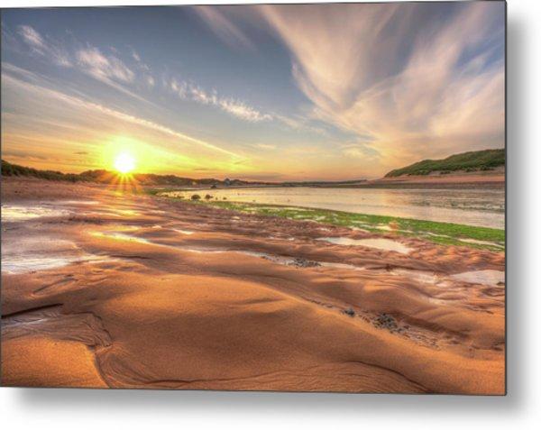 Sunset Over River Ythan Metal Print