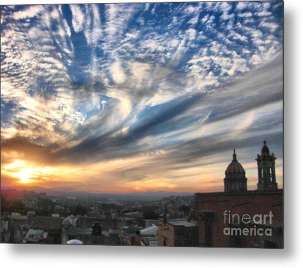 Sunset Over San Miguel De Allende Metal Print