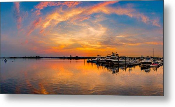 Sunset Over Shrewsbury Bay Metal Print