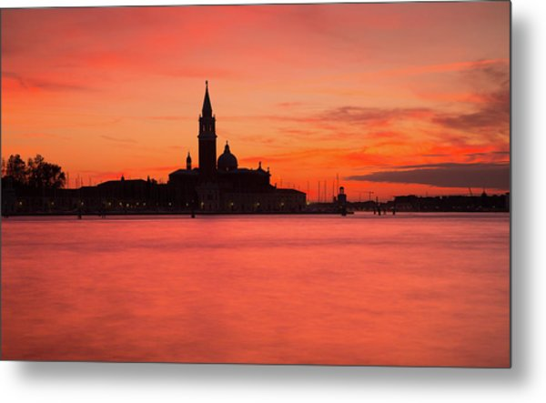 Sunset Over The Grand Canal, Venice, Metal Print