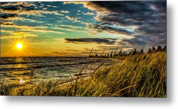 Sunset Over The Great Lake Metal Print