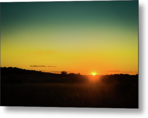 Sunset Over The Prairie Metal Print