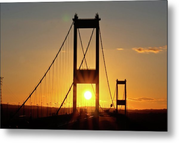 Sunset Over The Severn Metal Print