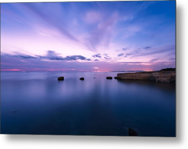 Sunset Over The Sicilian Sea Metal Print