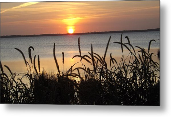 Sunset Over The Sound  Metal Print
