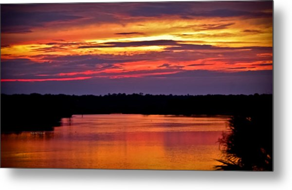 Sunset Over The Tomoka Metal Print