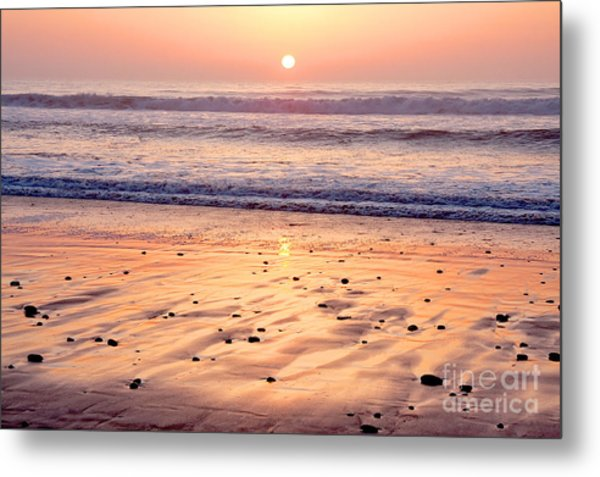 Sunset Over Torrey Pines Beach La Jolla California Metal Print by Julia Hiebaum