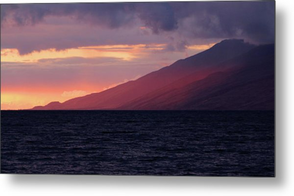Sunset Over West Maui Metal Print