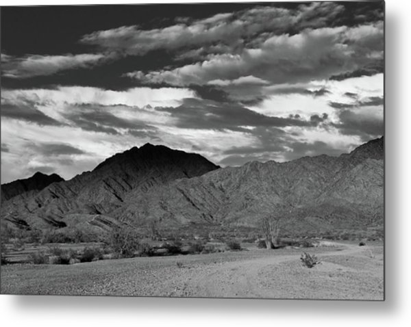 Sunset Over Yuma Mountain Metal Print