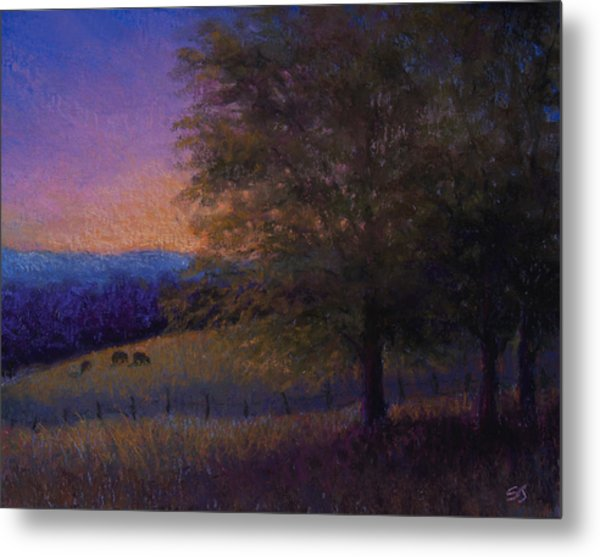 Sunset Pasture Metal Print