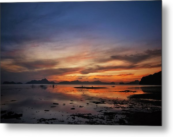 Sunset Pi Metal Print