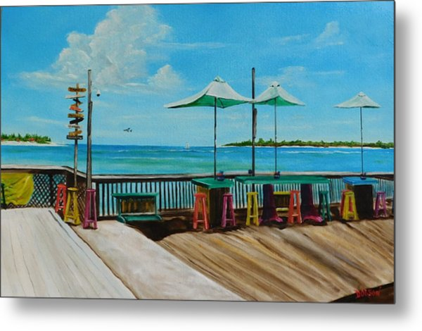 Sunset Pier Tiki Bar - Key West Florida Metal Print