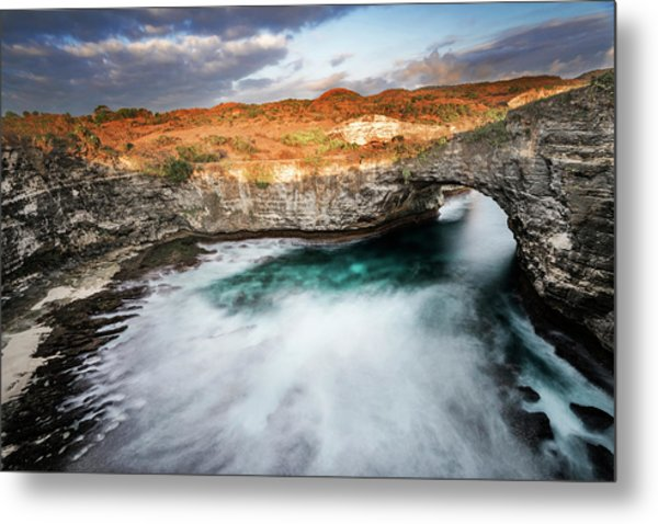 Metal Print featuring the photograph Sunset Point In Broken Beach by Pradeep Raja Prints