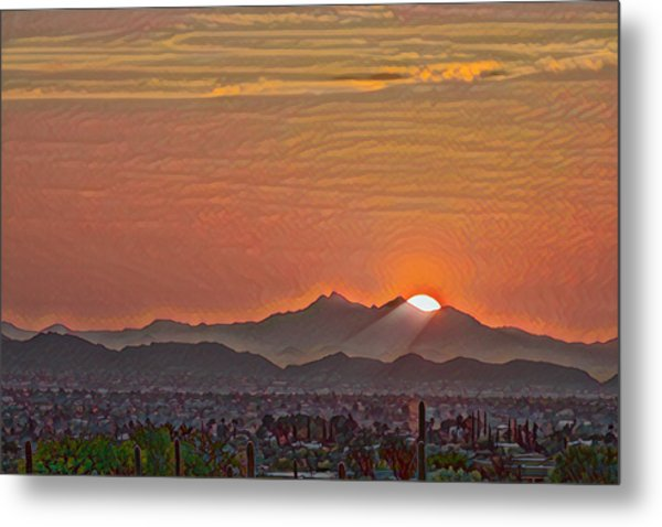 Metal Print featuring the photograph Sunset Rays Remix by Dan McManus
